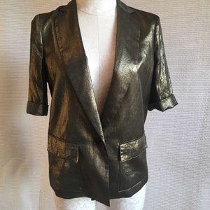 BCBG Metallic Bronze Lightweight Blazer Jacket